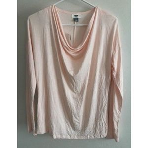 Old Navy Womens Pink Draped Tunic Loose Top Size M